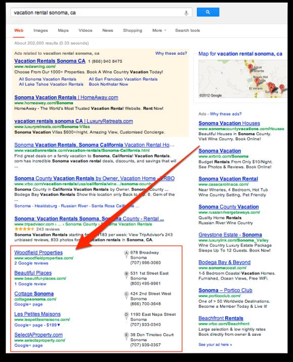 Local Search Results Google