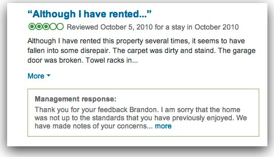 Responding to negative guest reviews
