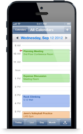 iPhone Calendar Paperless Vacation Rental