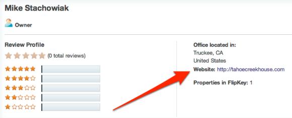 FlipKey Listing Link